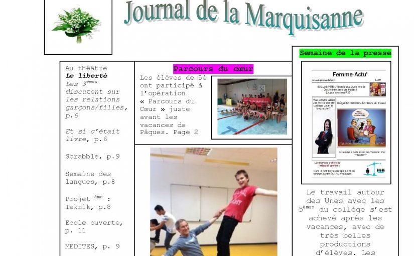 Journal du collège d'Avril – Mai